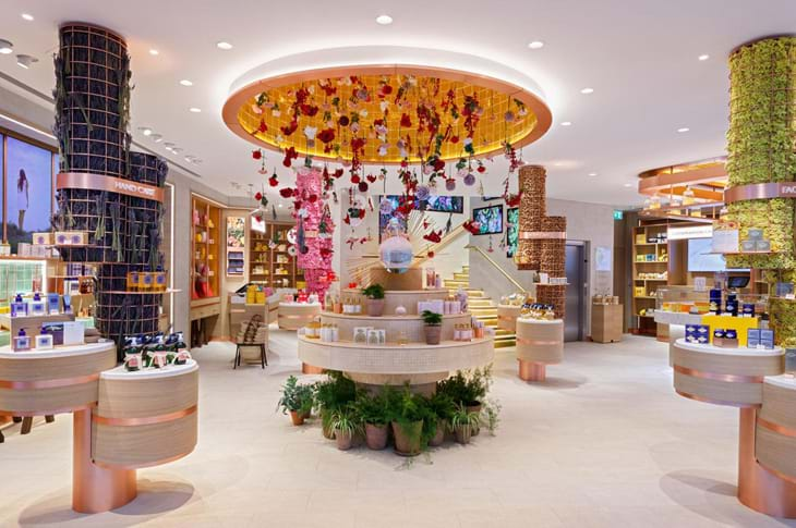 World Retail Award's Best Design Award: L'Occitane Regent St Flagship Store