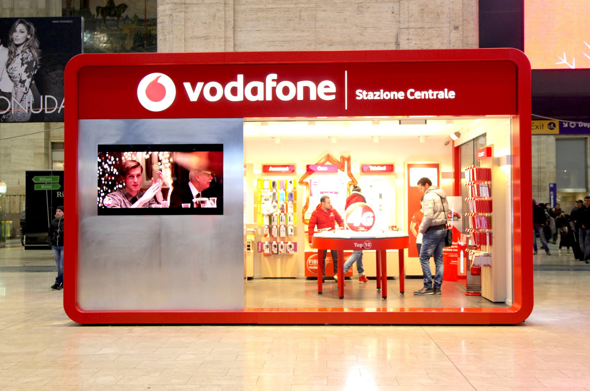 Vodafone in-store advertising